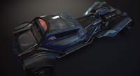 hotrod car concept 3D