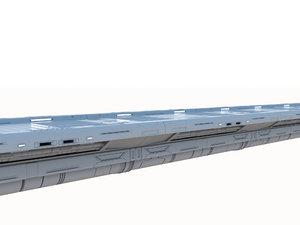 sci-fi bridge module 3D model