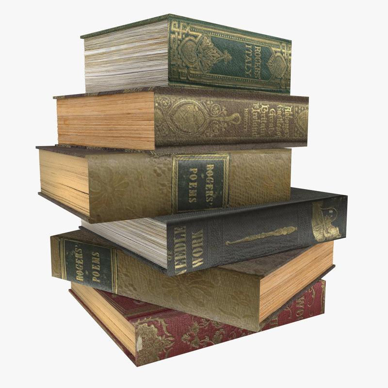 books page 3D model