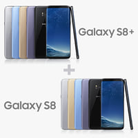 3D samsung galaxy s8 colors