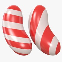 candy stripe red model