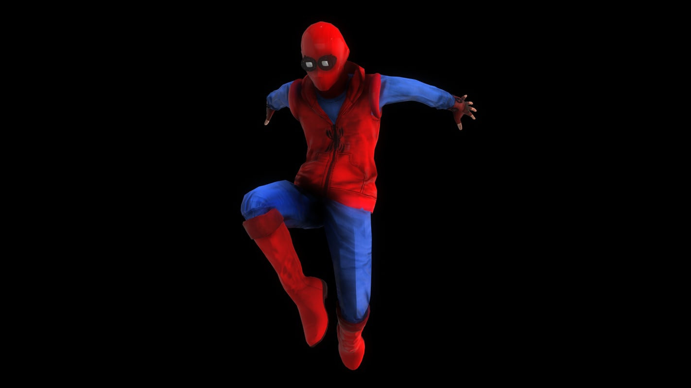 3D spider-man homemade suit homecoming