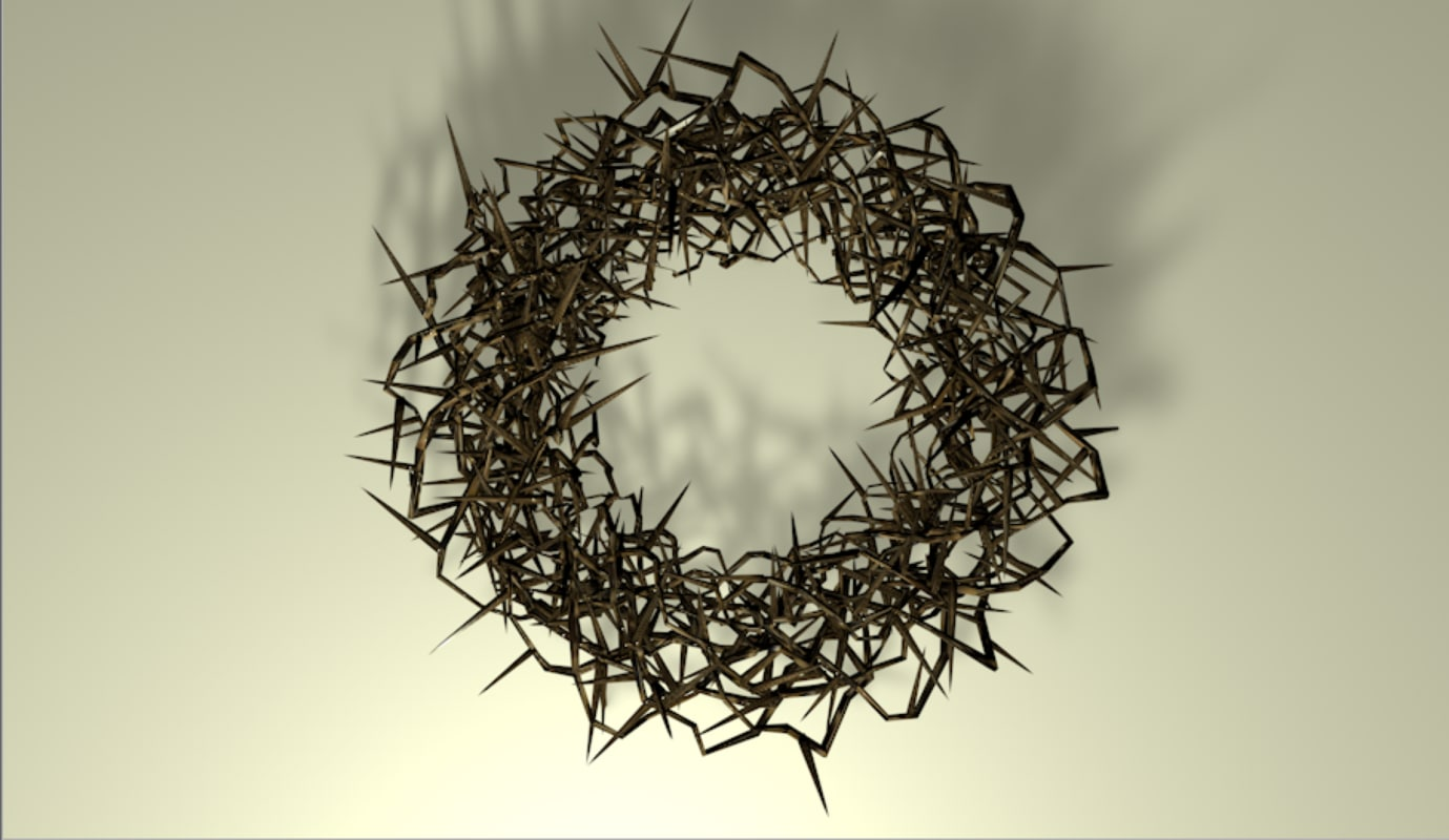 jesus crown thorns 3D