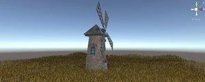 unity wheat field wind model
