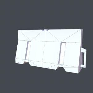 3D barrier model