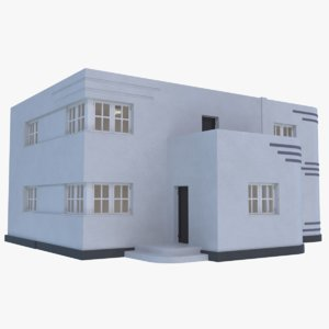 3D streamline moderne home interior