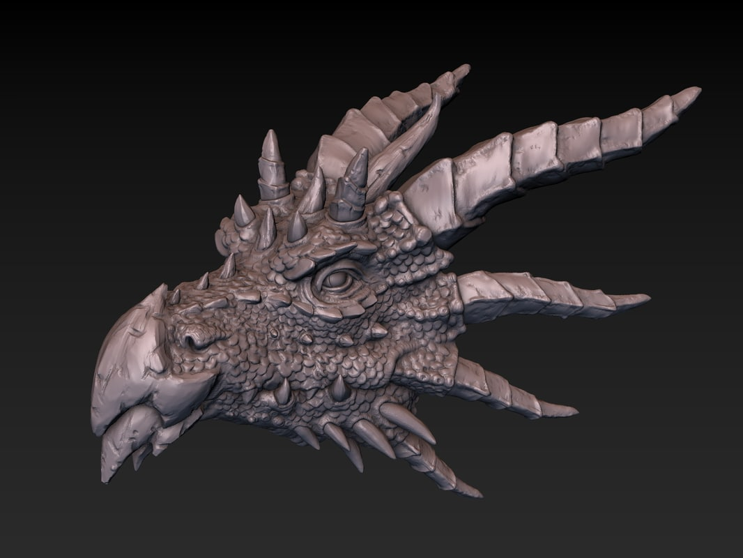 3D dragon head