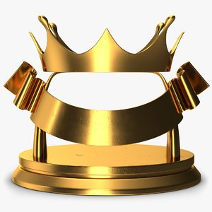 3D trophy crown