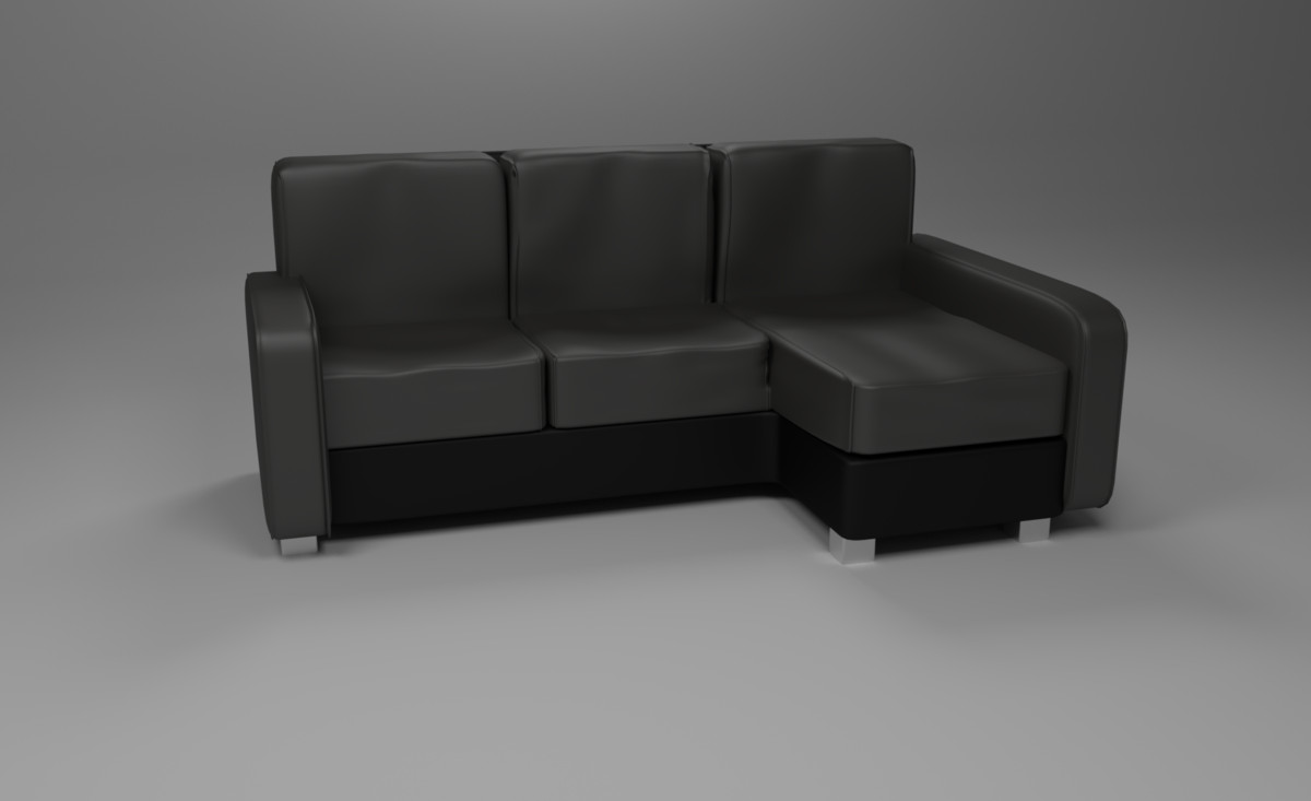 corner couch leather model