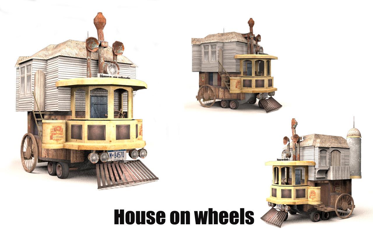 house wheels 3D model