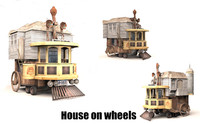 house wheels 3D model