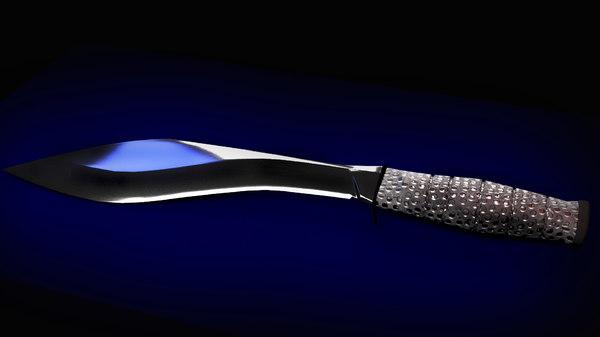3D machete knife model