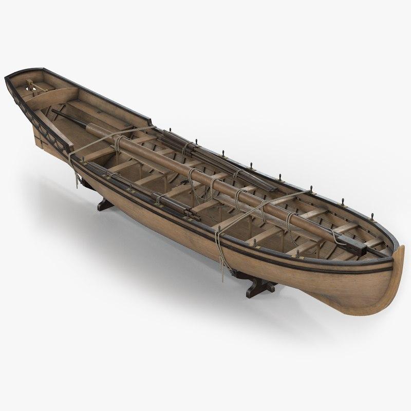longboat pinnace 3D model