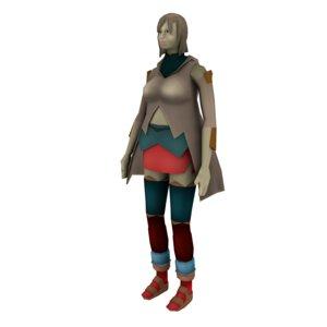 warrior character 3D