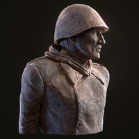 Soviet soldier sculpture