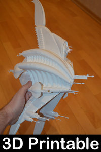 3D sharlin minbari warship model