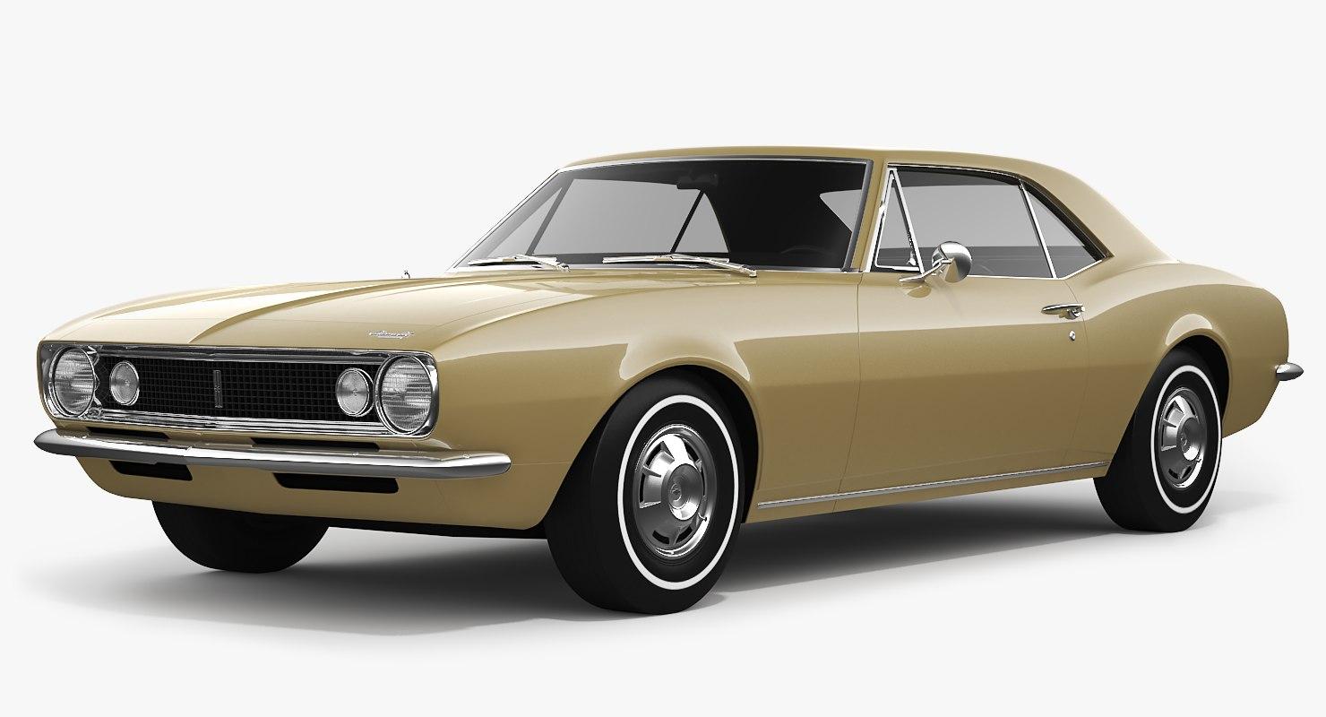chevrolet camaro 1967 3D model