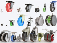 3D furniture castors model