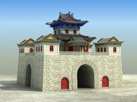 chinese building 3D model