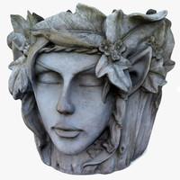 plant pot faces model