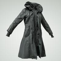 3D black coat