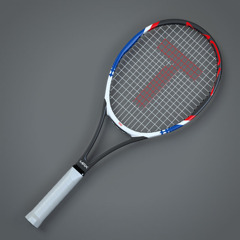 generic tennis racket vector 3D model