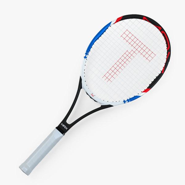 generic tennis racket vector 3D model