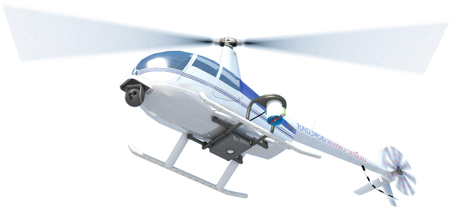3D r44 robinson model