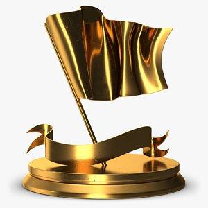 3D model trophy flag