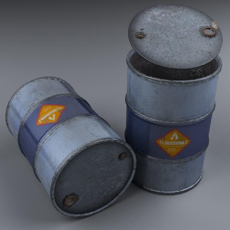 3D barrel modeled realistic