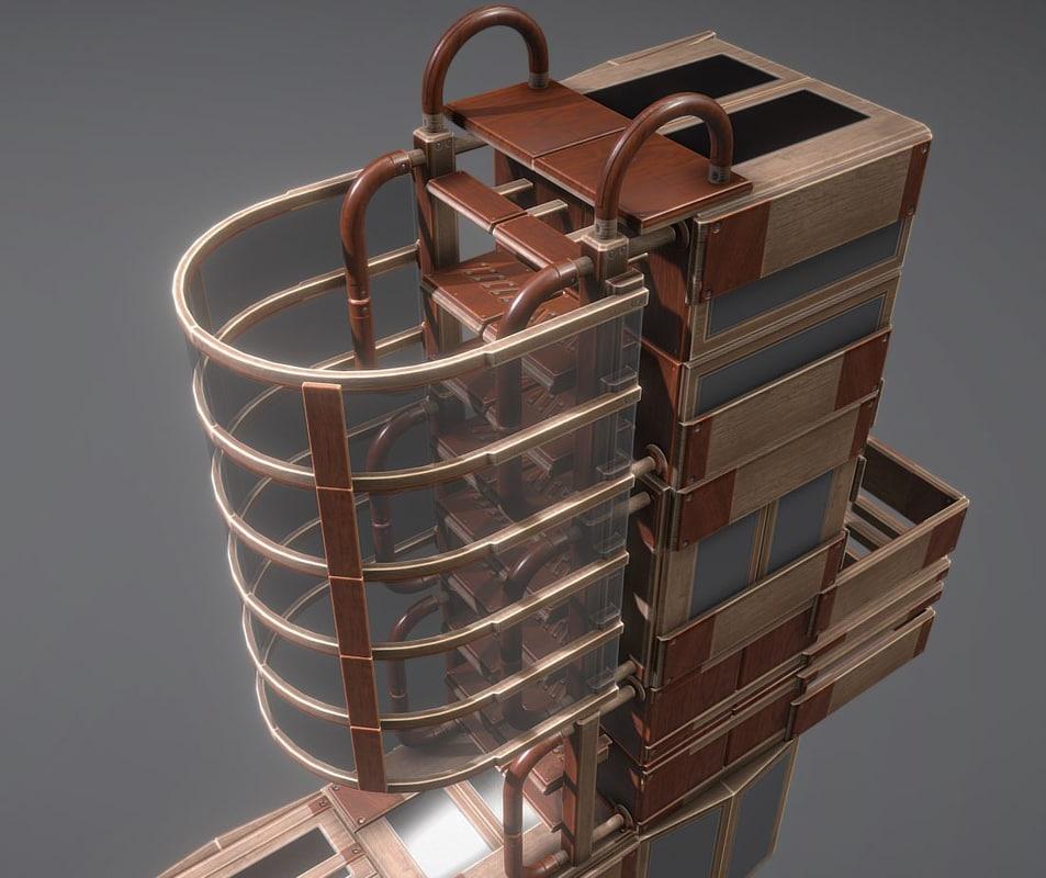 modular ladder floor model