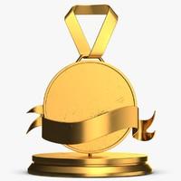 trophy medal 7 3D