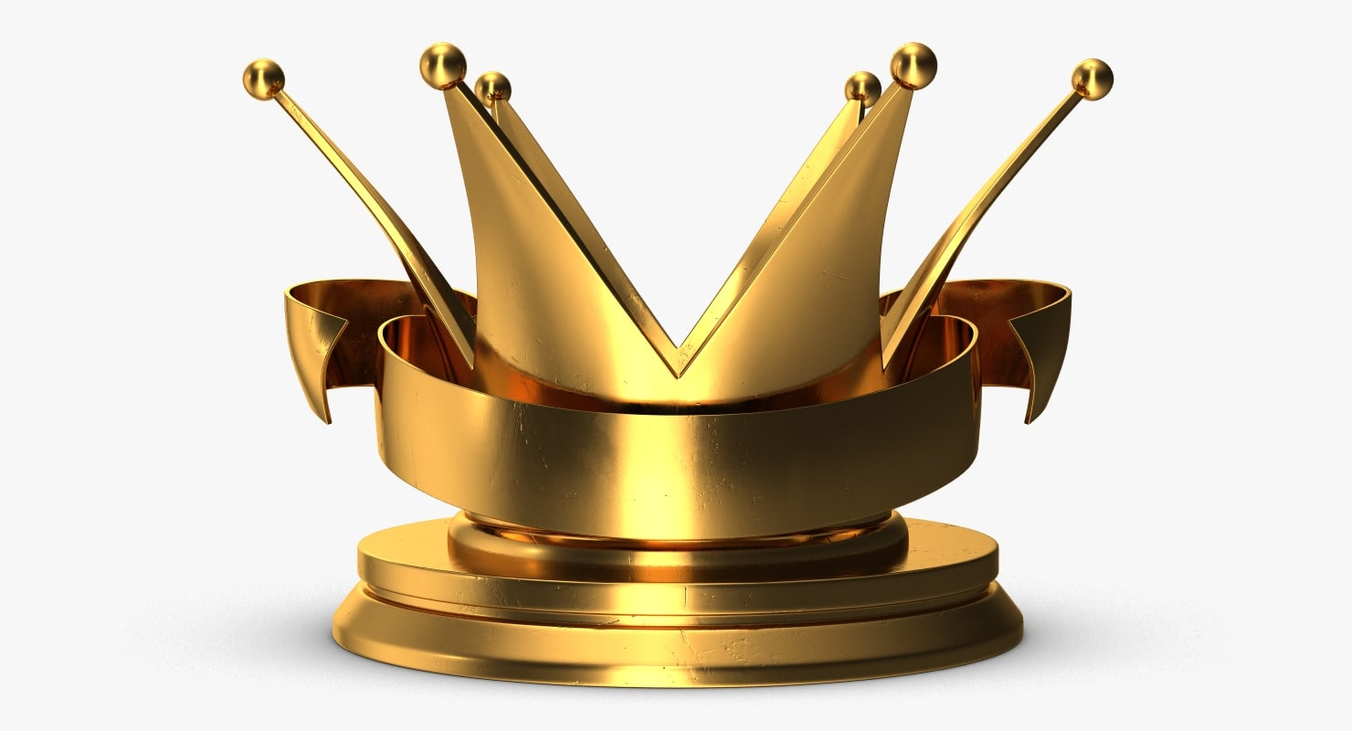 trophy crown 2 3D model