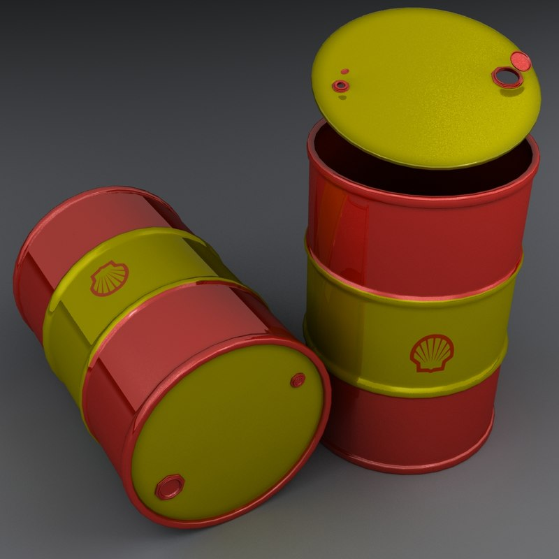 3D barrel modeled realistic model
