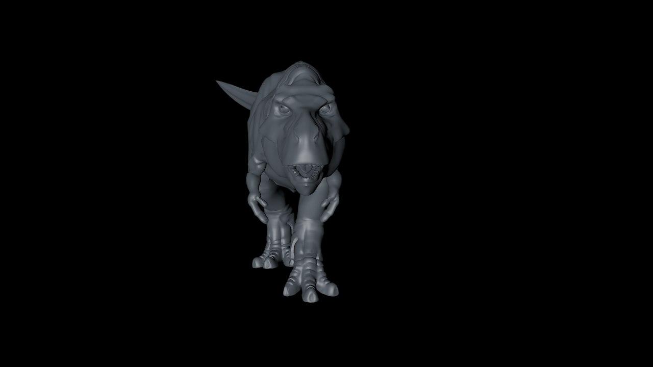 3D dinosaur rigged