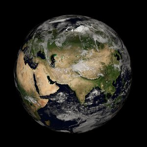 3D earth 8 k model