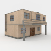 residental building town house model