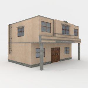 residental building town house model