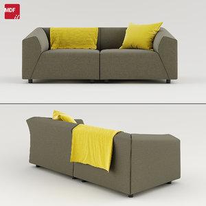 3D thea sofa mdf italia