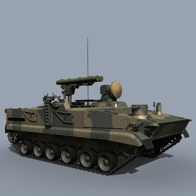 9k123 at-15 springer 3D model