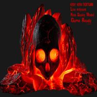 3D skull rock model