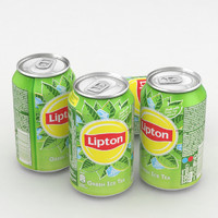 3D beverage lipton green ice