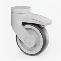 plastic caster wheel 3D model