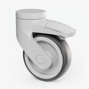 plastic caster wheel 3D model