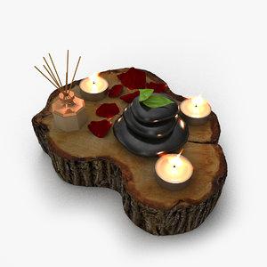 3D model spa massage decoration