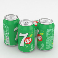beverage 7up 330ml 3D model