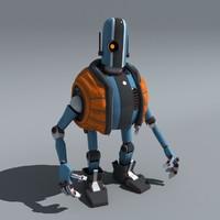 robot bot b4ll 3D model