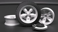 3D wheel brake disk model