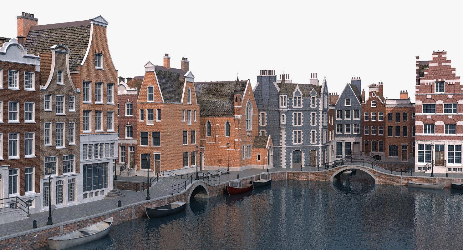 amsterdam port scene model