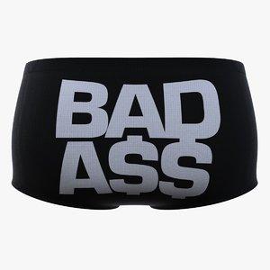 3D model pants underwear